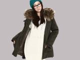 韩版女装2013 冬装新款高贵气质真貉子毛保暖连帽加厚夹棉外套