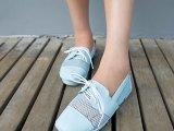 2014新款女鞋系带单鞋豆豆鞋网纱平底平跟单鞋松糕厚底夏季单鞋潮