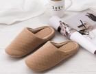 简约纯色秋冬季家居鞋情侣家用拖鞋防滑木地板棉拖鞋男女针织拖鞋