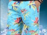 夏季沙滩裤男式宽松短裤 青年薄款男五分裤速干冲浪大裤头 定制