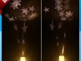 圣诞雪花雪人led蜡烛电池旋转投影灯 梦幻浪漫创意遥控小夜灯