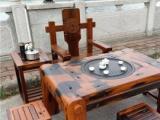 传统榫卯工艺老船木茶台仿古户外阳台泡功夫喝茶桌茶台户外围栏凉亭