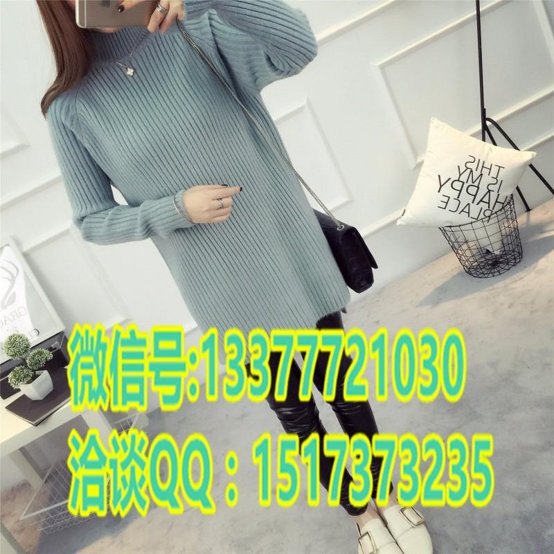 新款韩版百搭女式毛衣厂家批发中长款毛衣中年女士毛衣批发