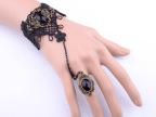 2118 复古宫廷蕾丝手链带戒指一体链女哥特风伴娘原宿首饰品批发
