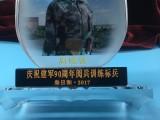 珠海海軍水晶盾牌紀念品定制,新兵老兵退役入伍紀念擺件