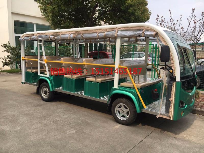 厦门鼓浪屿景区11座敞开式电动观光车带扶手