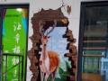 杭州绘创意专业手绘 墙绘壁画 3D墙绘 喷绘涂鸦