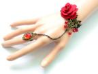 2011时尚DIY欧美外贸流行花朵蕾丝复古手链带戒指套装新娘小饰品