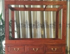 漯河老船木专卖店 鱼缸底柜水族箱 雕花柜子专业设计定做