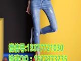 佛山市场牛仔裤批发时尚新款外贸女式牛仔裤批发厂家直供牛仔裤