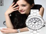 正品陶瓷表 白色陶瓷女表韩版时装表 潮时尚女士手表复古防水女表