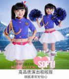 新款儿童啦啦操队服装现代舞蹈服幼儿爵士舞服装街舞表演服女纱裙