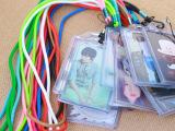 韩版明星证件胸卡挂脖长绳卡套学生 工作证公交挂绳卡套
