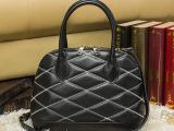 2014新款明星款真皮女包贝壳包刺绣菱格单肩斜跨包休闲女士手提包