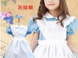 新款公主裙儿童迪士尼表演服装女童万圣节圣诞装灰姑娘演出扮演服