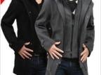 男装2012新款秋冬韩版修身男式风衣休闲连帽羊毛呢大衣男外套大码