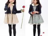 品牌童裙 广东产地品质童装裙子 外贸秋款纯棉新款假两件童裙批发