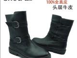 新款品牌 正品头层牛皮男鞋真皮男靴 英伦高帮靴 毛里保暖真皮靴