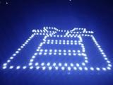 楼盘特大挂网字 排栅字 巨幅楼盘发光字制作
