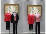 广州古诺尔17冬装高端品牌女装库存折扣服装批发市场