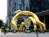 台湾雕塑 大型景观金蝉玻璃钢雕塑制作