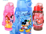 儿童水杯 夏季塑料水杯小学生便携防漏水杯迪士尼可爱宝宝吸管杯
