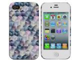 iPhone4S几何图案水贴保护套 iPhone4水贴手机壳