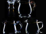 批发正品牌76茶海套组公杯 耐高温高硼硅玻璃过滤茶网架三件套