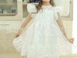 广东产地童装批发 欧美女童夏季新款网纱蕾丝公主裙 外贸童裙