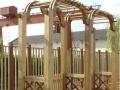 凉亭、花箱、花架、栅栏、木桥、木地板、外墙装饰