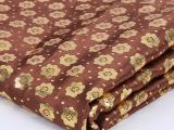 高档柔软顺滑中式家居家纺布料优雅厅房窗帘抱枕布涤纶印花布批发