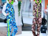 2014冬新女款修身韩版羽绒服高档迷彩套装外套棉衣【实拍款】