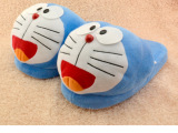 叮当猫机器猫半包跟居家棉拖鞋卡通情侣毛毛拖鞋哆啦A梦地板拖