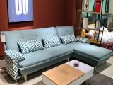 中山可比优居 厂价直销 现代清新转角蓝色布艺沙发