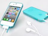 批发iPhone4S透明磨砂硅胶套TPU手机壳苹果5s软套带防尘