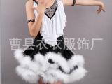 2014新款女童幼儿园表演服舞台服装儿童演出服装现代拉丁舞舞蹈裙