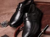 2014秋季新款中年男鞋皮鞋男士休闲鞋透气爸爸鞋真皮软底系带单鞋