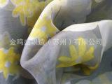 时装雪纺面料/雪纺围巾面料/白色雪纺印花雪纺