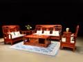 缅甸花梨木客厅沙发图