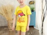新款童装纯棉短袖套装可爱卡通图案潮童夏装河池厂家服装直销批发