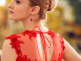 2015新款 外贸礼服宴会结婚礼服 红色欧美晚礼服长裙厂家批发