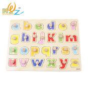 【厂家直销】儿童益智玩具081小写字母手抓拼板手抓板拼图木丸子