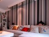 批发简约黑白灰竖条纹墙纸电视背景墙壁纸PVC工程纸客厅壁纸