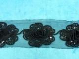 外贸畅销款花边三合一盘花玫瑰花服饰饰品用