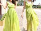 2014夏季显瘦海边度假裙沙滩裙长裙 波西米亚雪纺连衣裙 C627