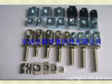 厂家批发 黑色工业铝型材配件 高强度工业铝型材配件