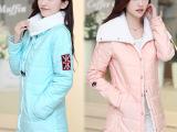 棉衣中长款加厚冬装韩版学院风羊羔毛棉服外套宽松加绒棉袄
