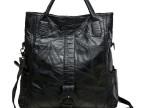 2014新款黑色真皮女包时尚酷欧美复古拼接羊皮包单肩斜跨手提包包