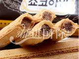 韩国进口食品 休闲零食/夹心蛋卷 克拉奥榛子巧克力威化饼干