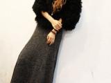 秋冬长裙 鱼尾大摆半身裙包臀大摆裙欧美针织半身长裙